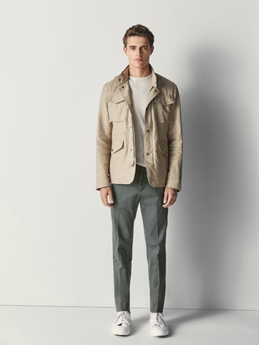 SLIM-FIT FINMØNSTRET CHINOS