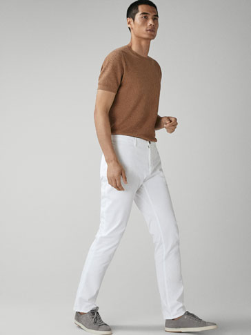 PANTALONI CHINO REGULAR FIT
