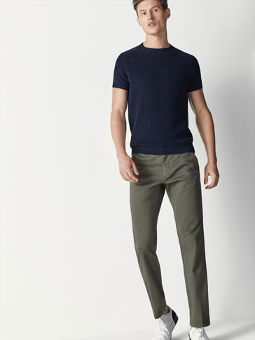 PANTALONI CHINO CASUAL FIT