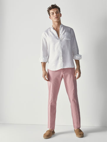 PANTALÓN OXFORD ESTILO CHINO CASUAL FIT