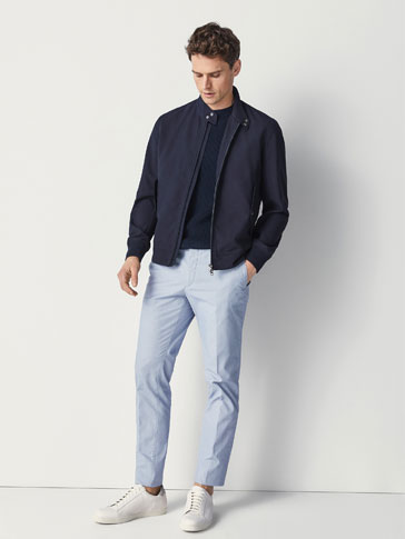 SLIM-FIT SMÅMØNSTRET BUKSE TYPE CHINOS
