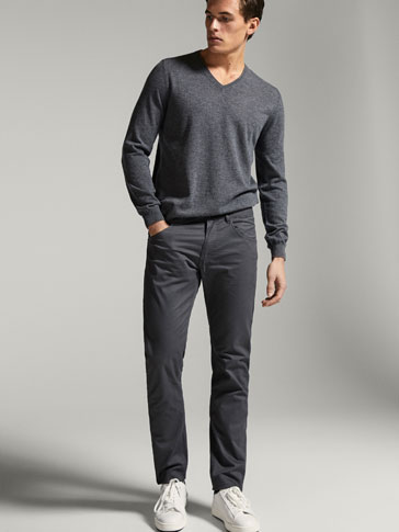 PANTALON 5 POCHES MICRO IMPRIMÉ CASUAL FIT