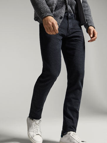 SLIM FIT TWILL CITY JEANS