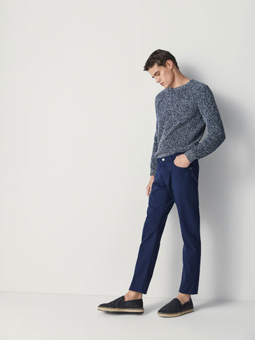 PANTALON EN JEAN STRUCTURE NOUÉE SLIM FIT