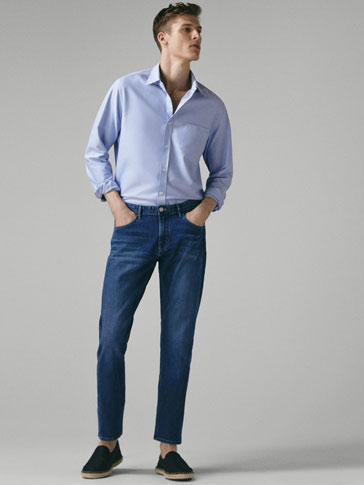 STONE WASHED JEANS I BOMULD - SLIM FIT
