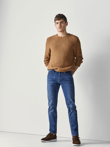 STONE WASH SLIM FIT JEANS