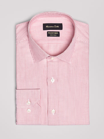 SLIM FIT MICRO STRIPED OXFORD SHIRT