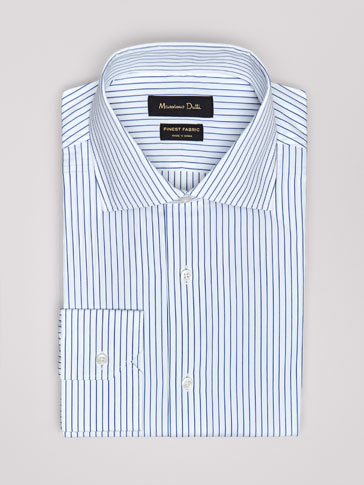 SLIM FIT STRIPED POPLIN SHIRT