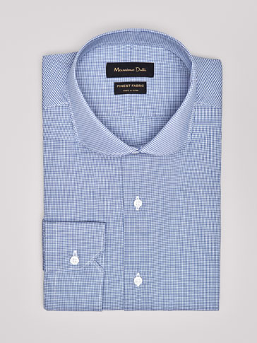 SLIM FIT HOUNDSTOOTH SHIRT