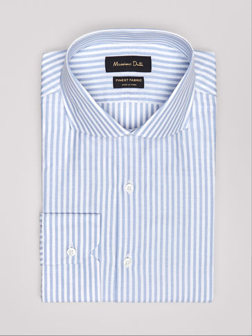 TAILORED FIT STRIPED OXFORD SHIRT