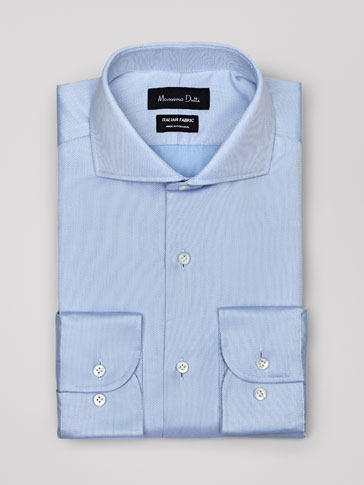 PERSONAL TAILORING SLIM FIT COTTON SHIRT WITH A TEXTURED WEAVE