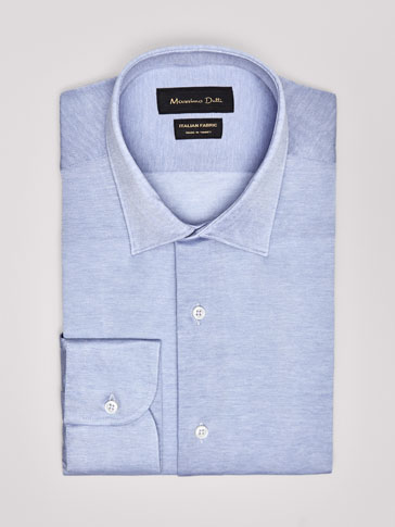 PLAIN SLIM FIT KNIT SHIRT