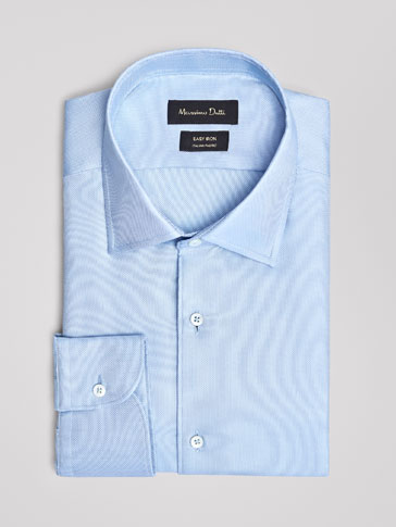 SLIM FIT EASY IRON PLAIN OXFORD SHIRT