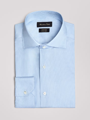 CAMICIA DI COTONE A RIGHINE SLIM FIT EASY IRON