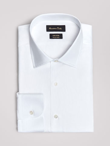 TAILORED FIT EASY IRON PLAIN OXFORD SHIRT
