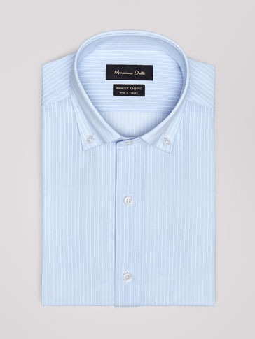 SLIM FIT STRIPED KNIT SHIRT