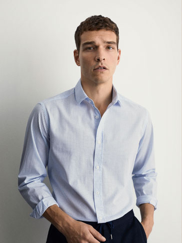 CAMISA ESTAMPADO GEOMÉTRICO SLIM FIT