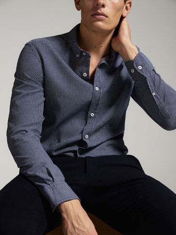 EXTRA SLIM FIT TEXTURED WEAVE SHIRT