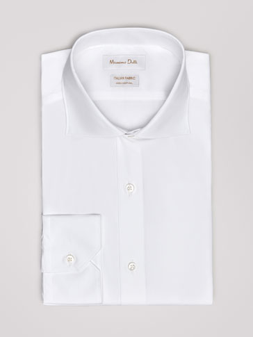 TAILORED FIT EASY IRON PLAIN POPLIN SHIRT