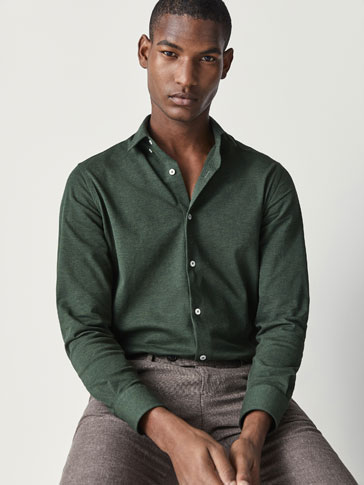 SLIM FIT KNIT SHIRT