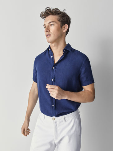 CAMISA LIÑO LISA REGULAR FIT