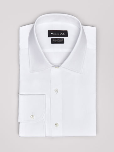 PERSONAL TAILORING SLIM FIT PLAIN POPLIN SHIRT