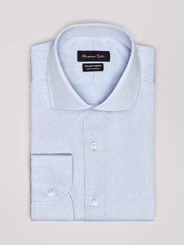 قميص قطن هيكلي سليم فيت PERSONAL TAILORING