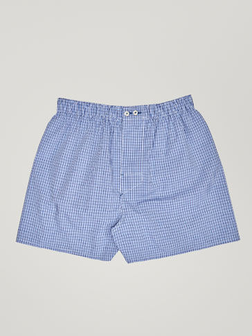 TWO-TONE GINGHAM CHECK PRINT BOXERS
