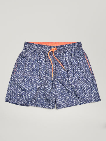 DOT PRINT SWIMMING TRUNKS