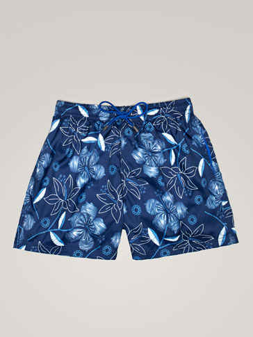FLORAL PRINT SWIMMING TRUNKS