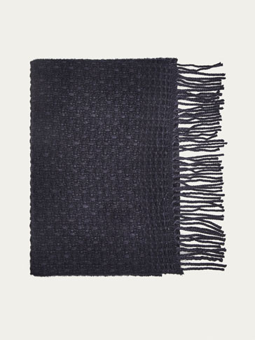 FANCY WEAVE WOOL SCARF