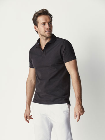 PLAIN COTTON POLO SHIRT