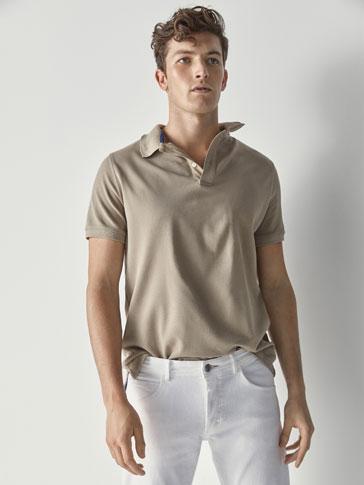 قميص بولو قطن سادة