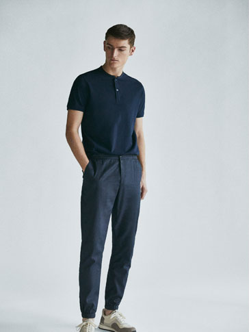 POLO SHIRT WITH STAND-UP COLLAR SOFT COLLECTION