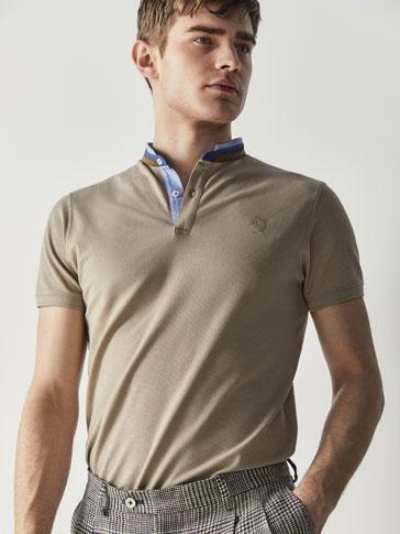 قميص بولو قطني مزين بالنقاط