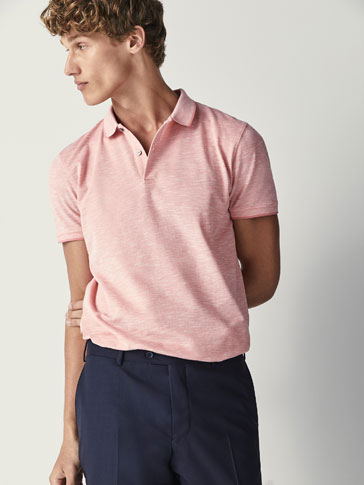 POLO COTON FIL CHINÉ