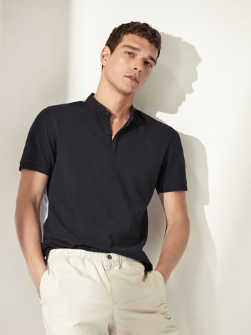 CONTRASTING COTTON POLO SHIRT