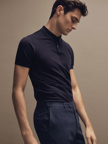 PERSONAL TAILORING 100% MERINO WOOL POLO-STYLE SWEATER