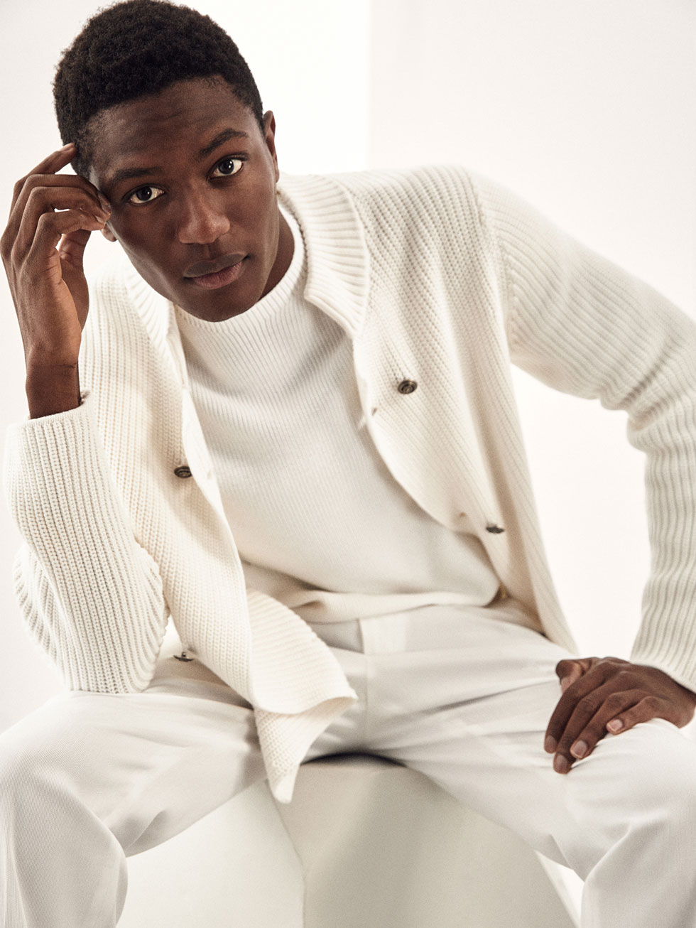 Limited Edition Cable Knit Cardigan by Massimo Dutti