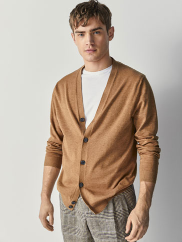 PLAIN COTTON CARDIGAN