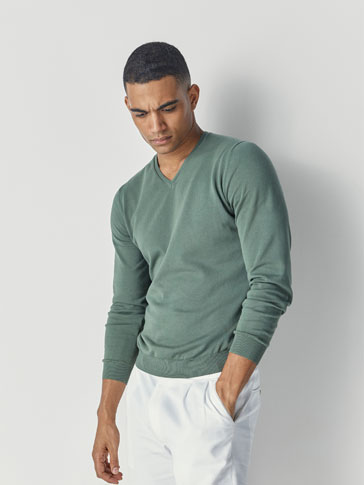 PLAIN COTTON SWEATER