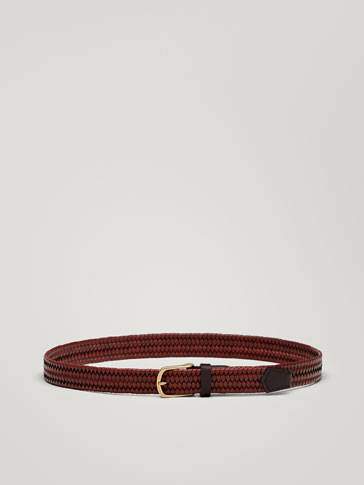 STRETCH PLAITED LEATHER BELT
