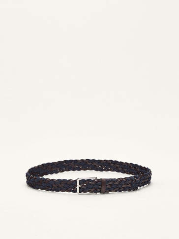 CONTRASTING BRAIDED BELT