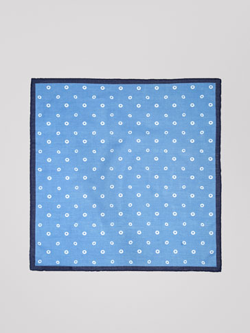 CIRCLE PRINT COTTON HANDKERCHIEF