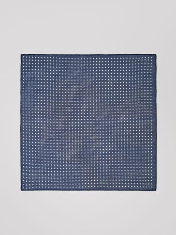 도트 패턴 실크 행커칩