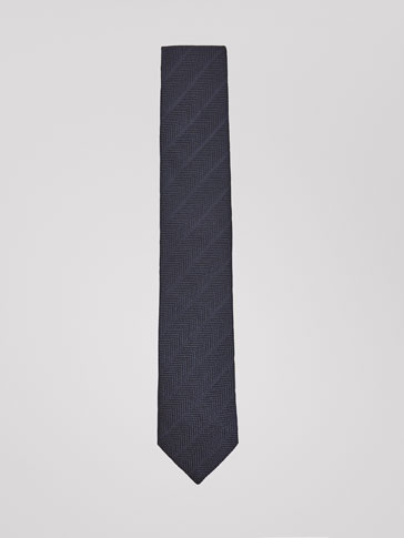 FALSE PLAIN COTTON/SILK TIE