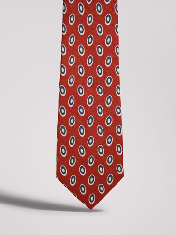 ربطة عنق حرير مطبعة رسوم هندسية PERSONAL TAILORING