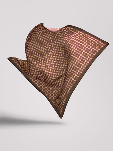 PERSONAL TAILORING TRIBAL PRINT SILK POCKET SQUARE