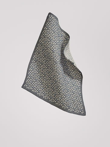 PERSONAL TAILORING FLORAL PRINT LINEN POCKET SQUARE