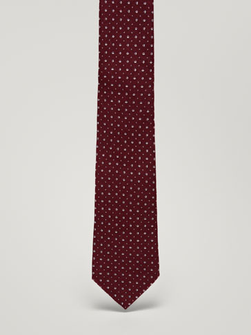 HERON PRINT WOOL/SILK FULL CANVAS TIE